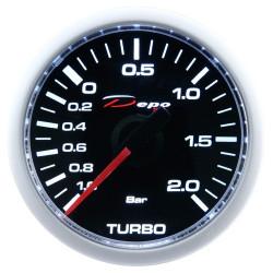 DEPO racing gauge Boost - electric -Night glow series 2BAR
