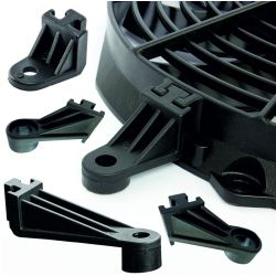 Radiator fan mounting kit