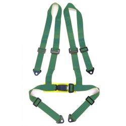 "4 point safety belts 2"" (50mm), green"