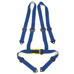 "4 point safety belts 2"" (50mm), blue"