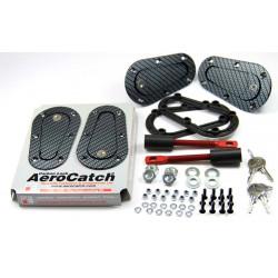 Aerodynamické úchyty kapoty Aerocatch T120 séria, uzamykateľné, carbon look