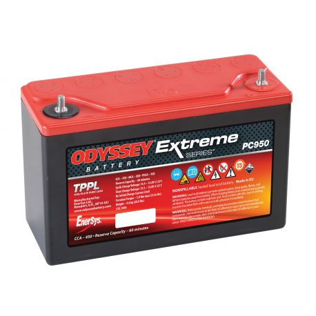 Batteries, boxes, holders Gélová autobatéria Odyssey Racing EXTREME 30 PC680, 34Ah, 950A | races-shop.com