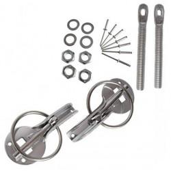 Aluminium bonnet pins kit