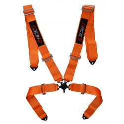 "4 point safety belts RACES 3"" (76mm), orange"