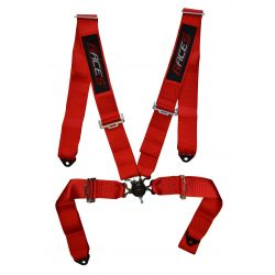 "4 point safety belts RACES 3"" (76mm), red"