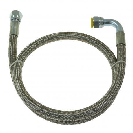 Hoses for oil PTF stainless steel braided hose AN10 | races-shop.com