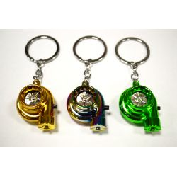 Keychain electronic spinning turbo with LED