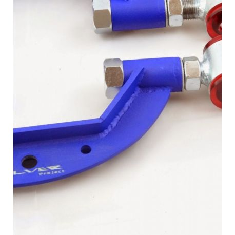 S14 SILVER PROJECT ADJUSTABLE REAR ARMS NISSAN 200SX S13, S14, Skyline R33 (CAMBER) | races-shop.com