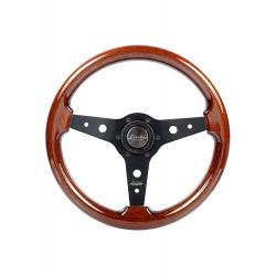 Steering wheel Luisi Montecarlo, 340mm, mahogany, flat