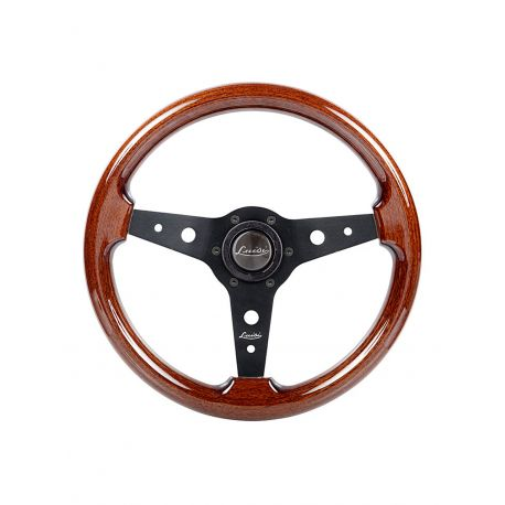 steering wheels Steering wheel Luisi Montecarlo, 340mm, mahogany, flat | races-shop.com