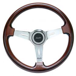 Steering wheel Luisi Montecarlo Classico II, 370mm, mahogany, flat