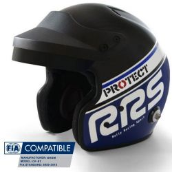 Helmet RSS Protect JET with FIA 8859-2015, Hans, blue