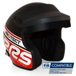 Helmet RSS Protect JET with FIA 8859-2015, Hans, red