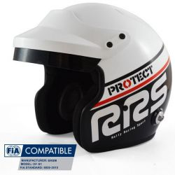 Helmet RSS Protect JET with FIA 8859-2015, Hans, black