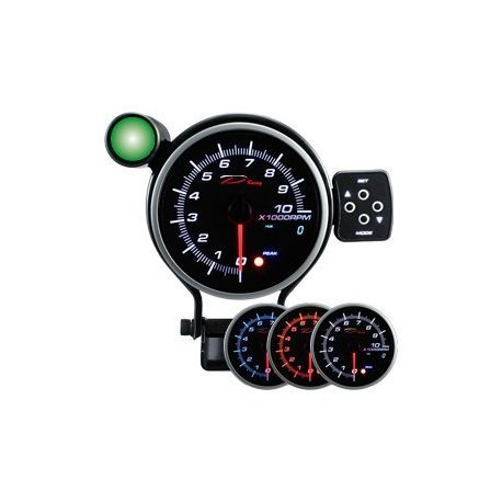 Gauges 80mm and more Programmable dual view additional Tachometer DEPO 95mm - Gasoline | races-shop.com