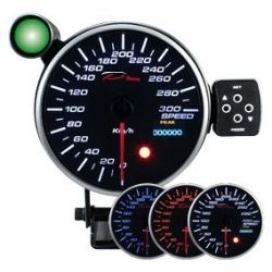 Programmable dual view Speedometer DEPO 115mm