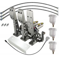 Floor Mounted V3 Billet Aluminium DBW Accelerator Bulkhead Fit Hydraulic Clutch Pedal Box