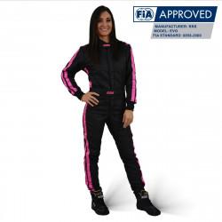 FIA race suit RRS EVO Diamond Black / Rose