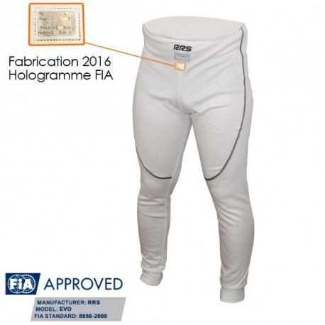 Underwears RRS pants with FIA approval, white 100% NOMEX | races-shop.com