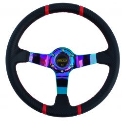 Steering wheel RACES Drift NEO, 350mm, carbon, 90mm deep dish