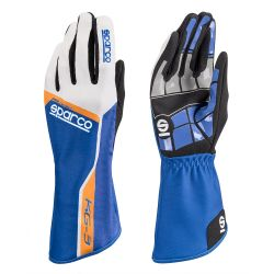 Race gloves Sparco Track KG-3 (inside stitching) blue/ white