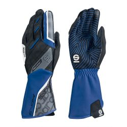 Race gloves Sparco Motion KG-5 (external stitching) black/blue