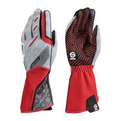 Race gloves Sparco Motion KG-5 (external stitching) white/red
