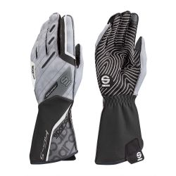 Race gloves Sparco Motion KG-5 (external stitching) black/white