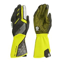 Race gloves Sparco Motion KG-5 (external stitching) black/yellow