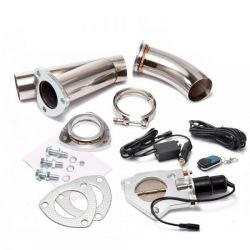 V-band Exhaust Y-Pipe Cutout Valve with remote control