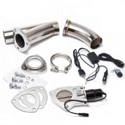 V-band Exhaust Y-Pipe Cutout Valve with remote control and switch