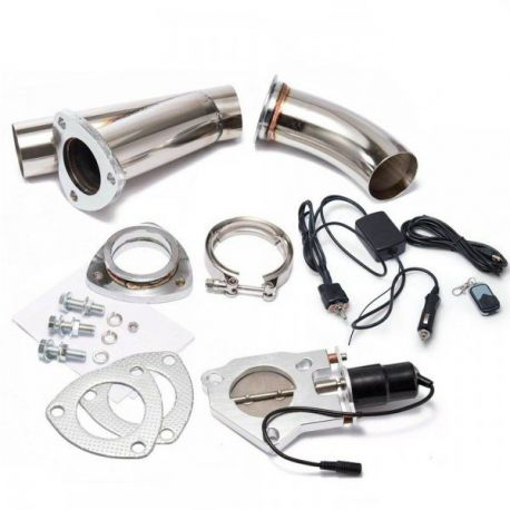 V-band Exhaust Y-Pipe Cutout Valve with remote control and switch |  races-shop com