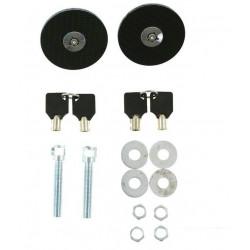 Bonnet/boot lock flush fitting carbon