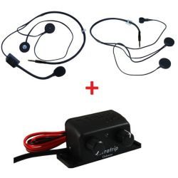 Intercom system set Terratrip Clubman + 2x headset kit