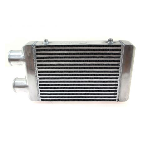 Same side intercoolers Intercooler FMIC universal 400 x 300 x 76mm asymmetrical | races-shop.com