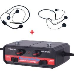 Intercom system set Terratrip Professional + 2x headset kit