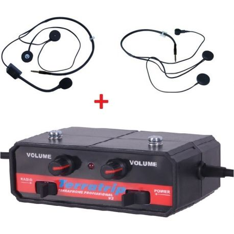 Intercom Kits Intercom system set Terratrip Professional + 2x headset kit | races-shop.com