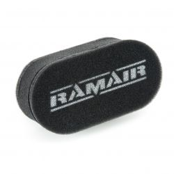 Universal twin inlet Carburettor filter Ramair for Weber & Dellorto