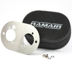 Twin inlet Carburettor filter Ramair for Weber DCOE 40 a Dellorto DHLA 40