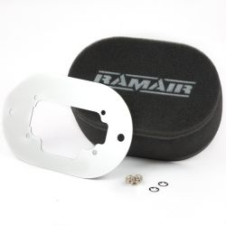 Twin inlet Carburettor filter Ramair for Weber 32/36 DGAV