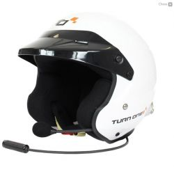 Helmet Turn One Jet-RS with FIA 8859-2015, Hans with intercom