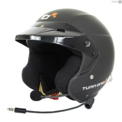 Helmet Turn One Jet-RS with FIA 8859-2015, Hans, black with intercom