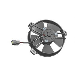 Universal electric fan SPAL 130mm - blow, 24V