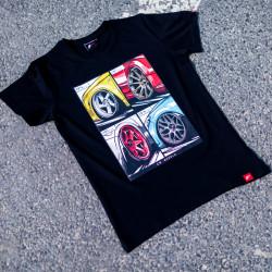 T-shirt JR-Wheels MIX Black