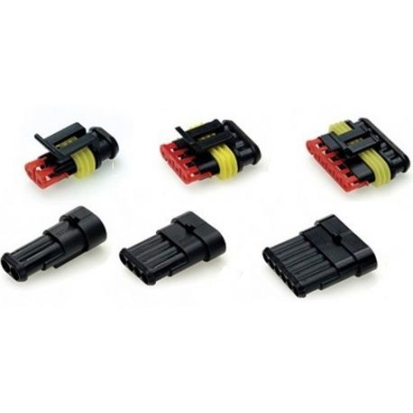 Cables, eyelets, connectors waterproof conector 1 - 6 pins | races-shop.com