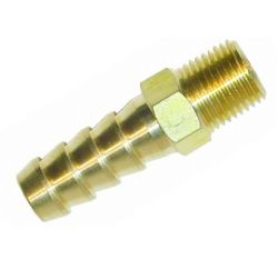 Brass straight union Sytec 1/4 NPT to 8, 10, 12, 15mm
