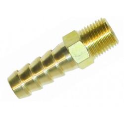 Brass straight union Sytec 1/4 NPT to 12mm