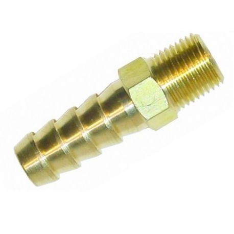 Hose pipe reducers Brass straight union RACES 1/4 NPT to 12mm   races-shop.com