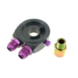 The oil filter adapter input/output AN8 black