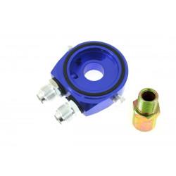 The oil filter adapter input/output AN10 blue